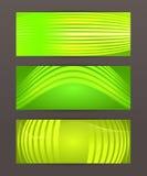 Set Horizontal banner headline abstract glow lines16 Stock Image