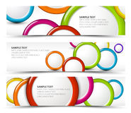 Set of horizontal banners with 3d circles Stock Photography