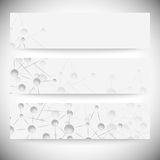 Set of horizontal banners. Abstract blue Royalty Free Stock Photos