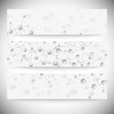 Set of horizontal banners. Abstract blue Stock Photo