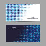 Abstract blue dotted background. Halftone. Vector illustration. Set of horizontal banners. Abstract blue dotted background. Halftone. Vector illustration royalty free illustration