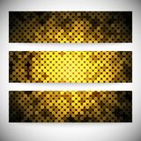 Set of horizontal banners. Abstract golden dots Royalty Free Stock Photography