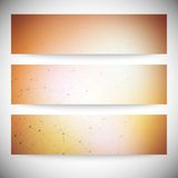 Set of horizontal banners. Abstract multicolored Royalty Free Stock Photos