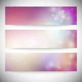 Set of horizontal banners. Abstract multicolored Royalty Free Stock Photography