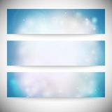 Set of horizontal banners. Abstract multicolored Stock Photo