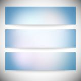 Set of horizontal banners. Abstract multicolored Royalty Free Stock Images