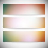 Set of horizontal banners. Abstract multicolored Royalty Free Stock Photo