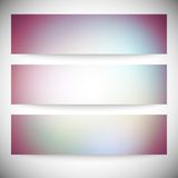 Set of horizontal banners. Abstract multicolored Stock Images