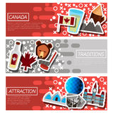 Set of Horizontal Banners about Canada Stock Images