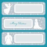 Set of horizontal banners Christmas theme Royalty Free Stock Photos