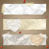 Set of horizontal banners Royalty Free Stock Photos