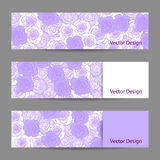 Set of horizontal banners with flowers Royalty Free Stock Images
