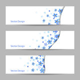 Set of horizontal banners with flowers Stock Images