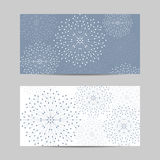 Set of horizontal banners. Geometric pattern with connected lines and dots. Vector illustration Royalty Free Stock Photography