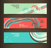 Set of horizontal banners, headers. Editable desig Royalty Free Stock Photos