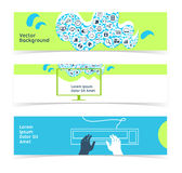 Set of horizontal banners, headers. Editable design template Royalty Free Stock Image