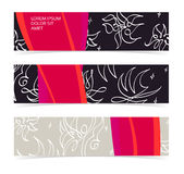 Set of horizontal banners, headers. Editable design template Royalty Free Stock Photos
