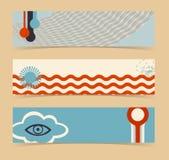 Set of horizontal banners, headers. Editable desig. N template. EPS10 vector, transparencies used Stock Image