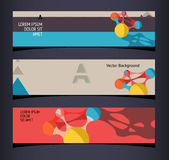 Set of horizontal banners, headers. Editable design template Stock Photos