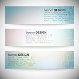 Set of horizontal banners. Microchip backgrounds, Stock Image