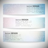 Set of horizontal banners. Microchip backgrounds, Royalty Free Stock Image