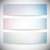 Set of horizontal banners. Microchip backgrounds, Royalty Free Stock Photos