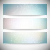 Set of horizontal banners. Microchip backgrounds, Stock Photos