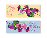 Set of horizontal banners  for Mothers Day Royalty Free Stock Photography