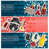 Set of Horizontal Banners about Russia Stock Images