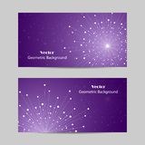 Set of horizontal banners Stock Photography