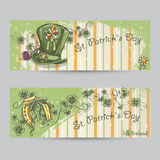 Set of horizontal banners for St. Patrick's Day Stock Photo