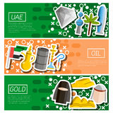 Set of Horizontal Banners about UAE Royalty Free Stock Photos
