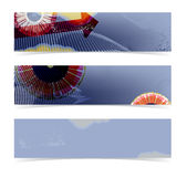 Set of horizontal banners Royalty Free Stock Images