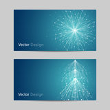 Set of horizontal banners Stock Images