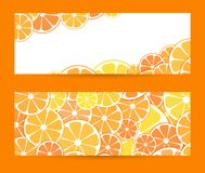 Set horizontal bright banner with empty place for text. Vector i royalty free illustration
