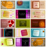 Set of 15 horizontal business cards Stock Photo
