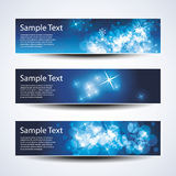 Set of horizontal Christmas, New Year banners Stock Image