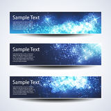 Set of Horizontal Christmas, New Year Banners Royalty Free Stock Photography