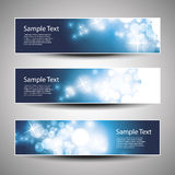 Set of Horizontal Christmas, New Year Banners Stock Photography