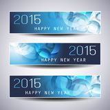 Set of Horizontal Christmas, New Year Banners Royalty Free Stock Photo