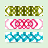Set of horizontal colorful banners on abstract background. Royalty Free Stock Photos