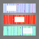 Set of Horizontal Colorful Banners. Abstract Geometric ornament. Set of Horizontal Colorful Banners. Abstract Geometric ornaments. Vector Illustration for print Royalty Free Stock Photography