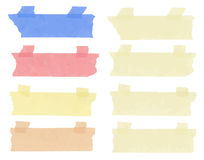 Set of horizontal and different size sticky tape Royalty Free Stock Image