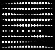 Set of horizontal divider lines made of circles. Dotted lines. Stock Image
