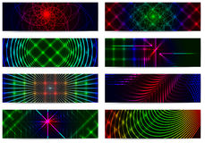 Set of horizontal elegant iridescent banners. Stock Photos