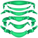 Set of horizontal green banners. EPS 10 vector. Set of horizontal green banners. And also includes EPS 10 vector Royalty Free Stock Photography