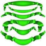 Set of horizontal green banners. EPS 10 vector. Set of horizontal green banners. And also includes EPS 10 vector Stock Photo