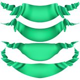 Set of horizontal green banners. EPS 10 vector. Set of horizontal green banners. And also includes EPS 10 vector Stock Image