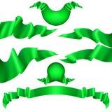 Set of horizontal green banners. EPS 10 vector. Set of horizontal green banners. And also includes EPS 10 vector Stock Photography