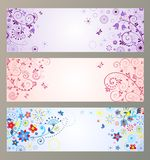 Set of horizontal greeting banners Royalty Free Stock Photo